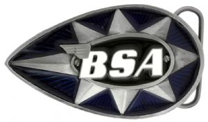 BSA Teardrop Star (blue/black) Belt Buckle with display stand (LM4)